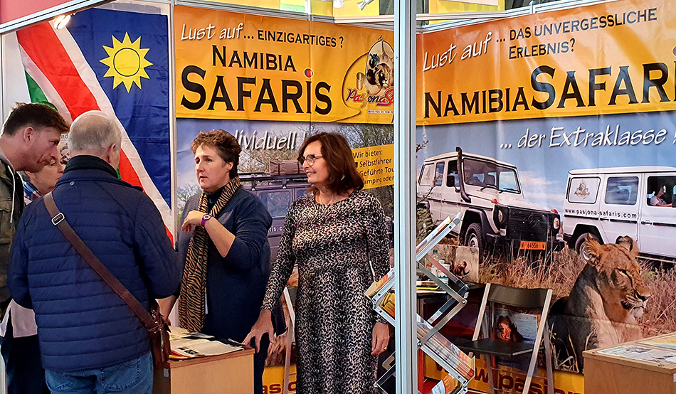 At the CMT there was also a lot of activity at stands with trips to Namibia