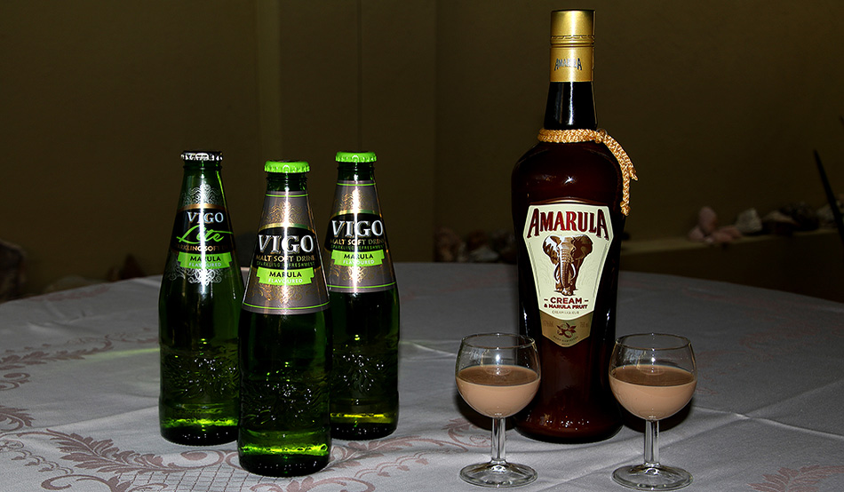 Cream liqueur and lemonade made from the Marula fruit